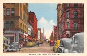 Canada Nova Scotia, Halifax, Barrington Street, auto cars, voitures, tram