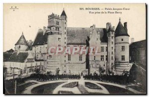 Old Postcard Bourges Palais Jacques Coeur View from the Square Berry