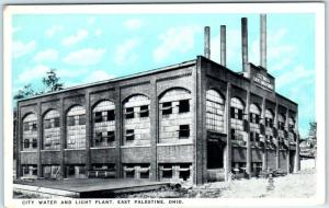EAST PALESTINE, Ohio  OH    CITY WATER & LIGHT PLANT  ca 1920s-30s Postcard
