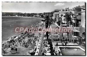 Old Postcard Menton casino pool of the Promenade and the beach