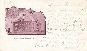 Postcard High School Corinth New York