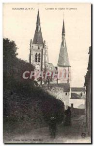 Dourdan - Steeples of & # 39Eglise St Germain - Old Postcard