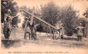 Le Calvaire, Jesus Charge de sa Croix Lourdes France Unused