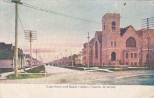 Canada Winnipeg Main Street and Ralph Connor's Church