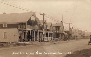 Island Park RI Horseman's Ice Cream Store Old Coon Cigar RPPC