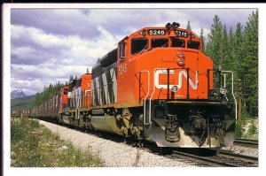 Canadian National Railway Freight Train, Rocky Mountains, British Columbia
