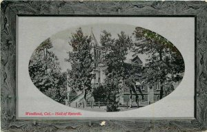 Frame Like Hall of Records Woodland California PNC Glosso 1912 Postcard 20-2829
