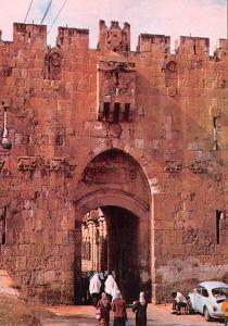 Israel Old Vintage Antique Post Card Lion's Gate Jerusalem Unused