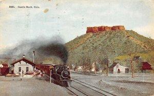 LP80  Castle Rock Colorado Postcard Train Depot