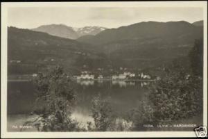norway norge, ULVIK, Hardanger, Steamer (1930s) RPPC