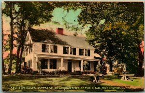 Greenwich, Connecticut Postcard Gen. Putnam's Cottage, HQ of the D.A.R. 1943