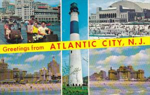 Absecon Lighthouse and Multi View Greetings From Atlantic City New Jersey