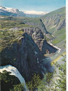 Norway Voringsfossen Waterfalls Mabodalen Valley