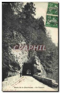 Old Postcard Route Chartreuse a Tunnel