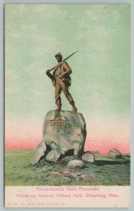 Vicksburg Mississippi~State Monument~National Military Park~Vintage Postcard