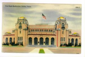 Fair Park Auditorium, Dallas, Texas unused Colourpicture linen Postcard