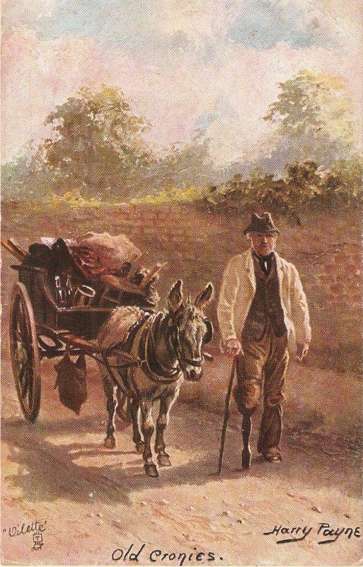 Harry Paayne. Old Cronies Tuck Oiette The Poor Man's Friend Ser. PC # 9388