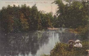 Michigan Reed City Methodist Epsicopal Campground On Hersey River 1912