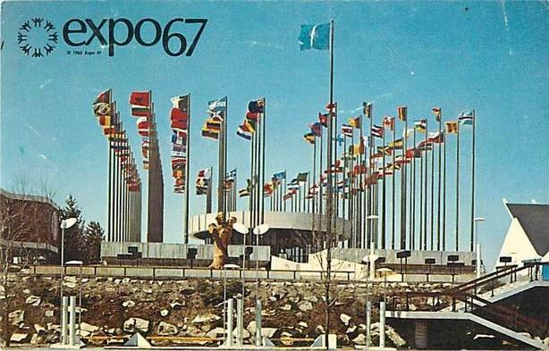 Pavilion of United Nations Expo 67 Montreal Quebec Canada, 1967 Chrome