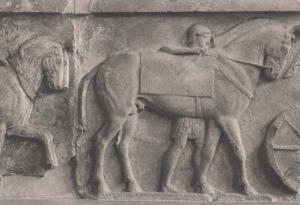 Marble Frieze From Lycia British Museum Exhibit Sculpture Antique Greek Postcard