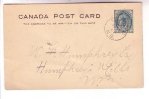 1901 CDS Cancel,  Shediac NB, Victoria Postal Stationery Canada