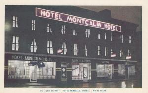 QUEBEC, Canada, 1930-50s; Hotel Montcalm at Night