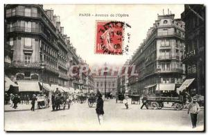Paris Old Postcard Avenue of & # 39opera