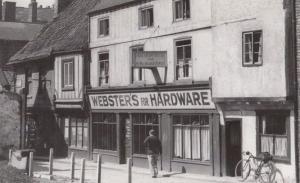 Websters Hardware Store at Newgate York Old Vintage Bicycle View Hostel Postcard
