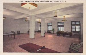 Recreation Room Grove Park In Asheville North Carolina