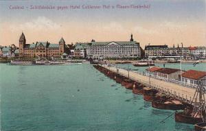 Boats, Schiffsbrucke Gegen Hotel Coblenzer Hof U. Riesen-Furstenhof, Coblenz ...