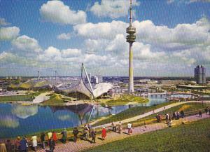Germany Muenchen Blick auf Olympiapark