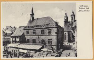 Gottinger, Germany-Rathaus und Johanniskirche-Town Hall and St. John's Church-53