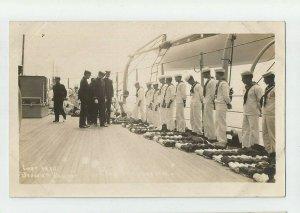 POSTCARD ~ Sailors ~US Navy ~ INSPECTION ~  White Fleet ~ Circa 1908