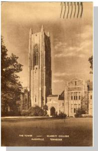 Nashville, Tennessee/TN Postcard, Scarritt College Tower