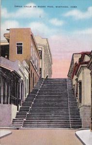 Cuba Santiago Tipica Calle De Padre Pico
