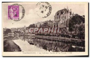 Old Postcard Chateauroux Le Chateau Raoul and the City