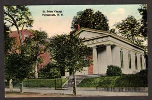 NH St Johns Chapel PORTSMOUTH NEW HAMPSHIRE PC Postcard