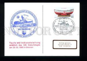 3163262 Germany 1990 Station MAASHOLM NIS RANDERS Ship card
