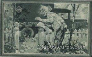 Railway Agency, Dependable Service Mail Man, Mailman, Postal Man, Worker Unus...