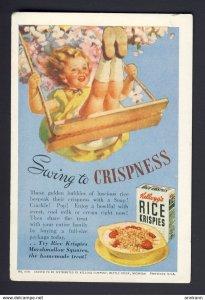Kellogg's Rice Krispies - Swing to Crispness - cute girl swinging  BLOTTER