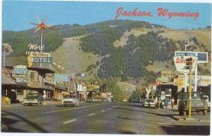 Street Scene Hwy 89 Jackson Wyoming WY