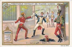 Liebig Trade Card S.623 Duelling No 6 Duel au sabre 1st Empire 1812