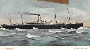 White Star Line Cunard Ship Post Card, Old Vintage Antique Postcard Republic,...