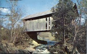 Photographic Covered Bridge near Stowe VT, Vermont