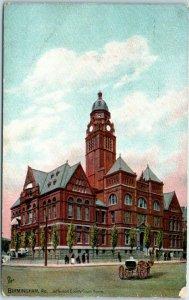 Birmingham, Alabama Postcard JEFFERSON COUNTY COURT HOUSE Tuck's 1909 Cancel
