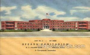 Spears Sanitarium, Denver Colorado Co, USA, Chiropractic Institution, Medical...