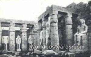 Statue of Ramses II Luxor Eqypt Writing on back