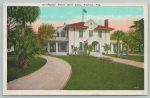 Tampa Florida~Rocky Point Golf Club House~19 Hole Course~1920s Postcard