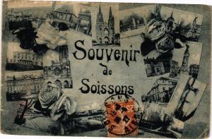 CPA Souvenir de SOISSONS (158959)