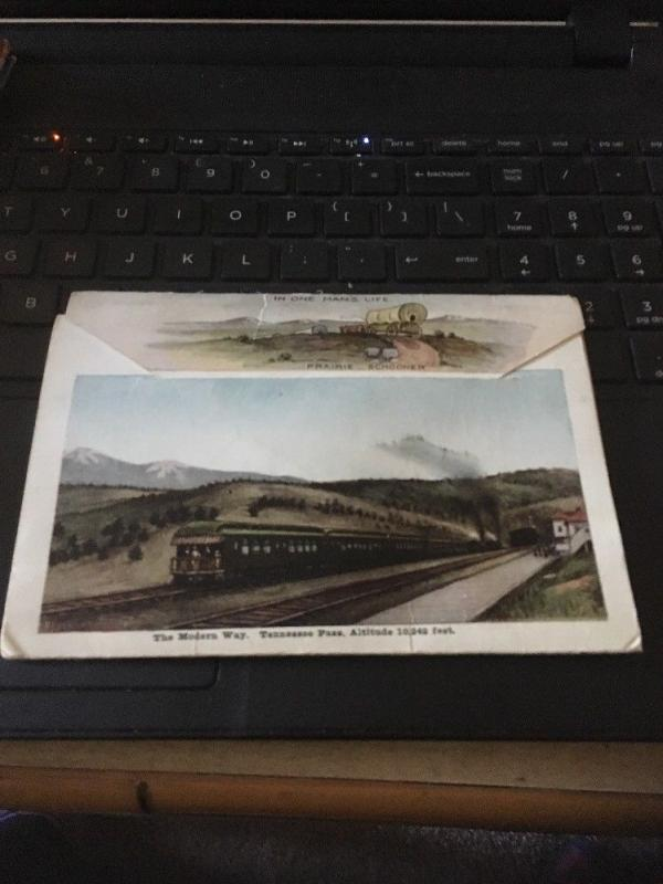Vtg Picture Postcard Book: In The Clouds, Official Folder, 18 Views